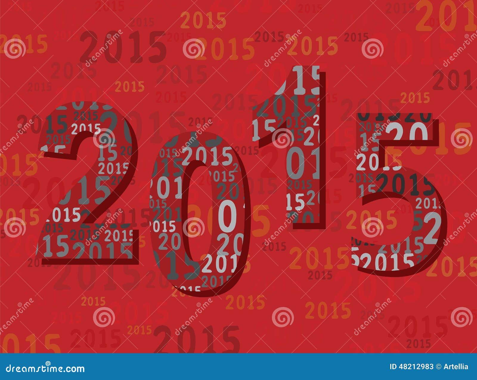 2015 Neues Jahr-Gruß-Karte - Stellen/Zahlen - Modern Vektor ...