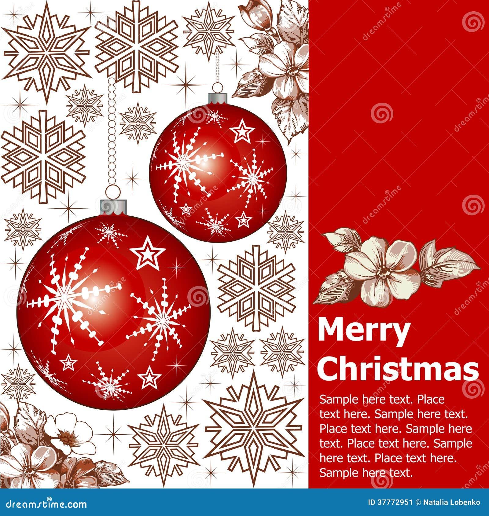 Neues Jahr. Gruß-Weihnachtskarte. Vektor Abbildung - Illustration ...
