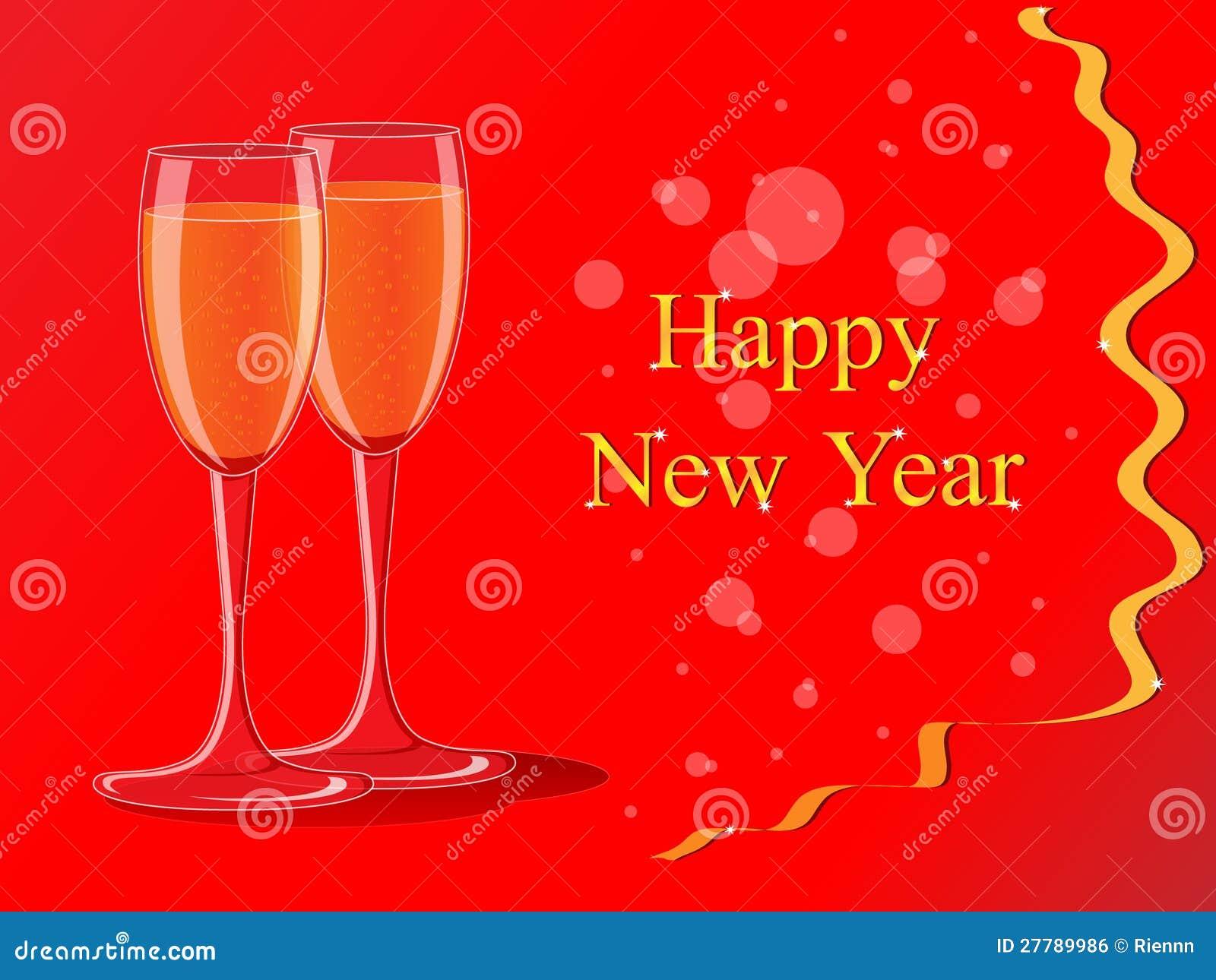 Neues Jahr-Grußkarte