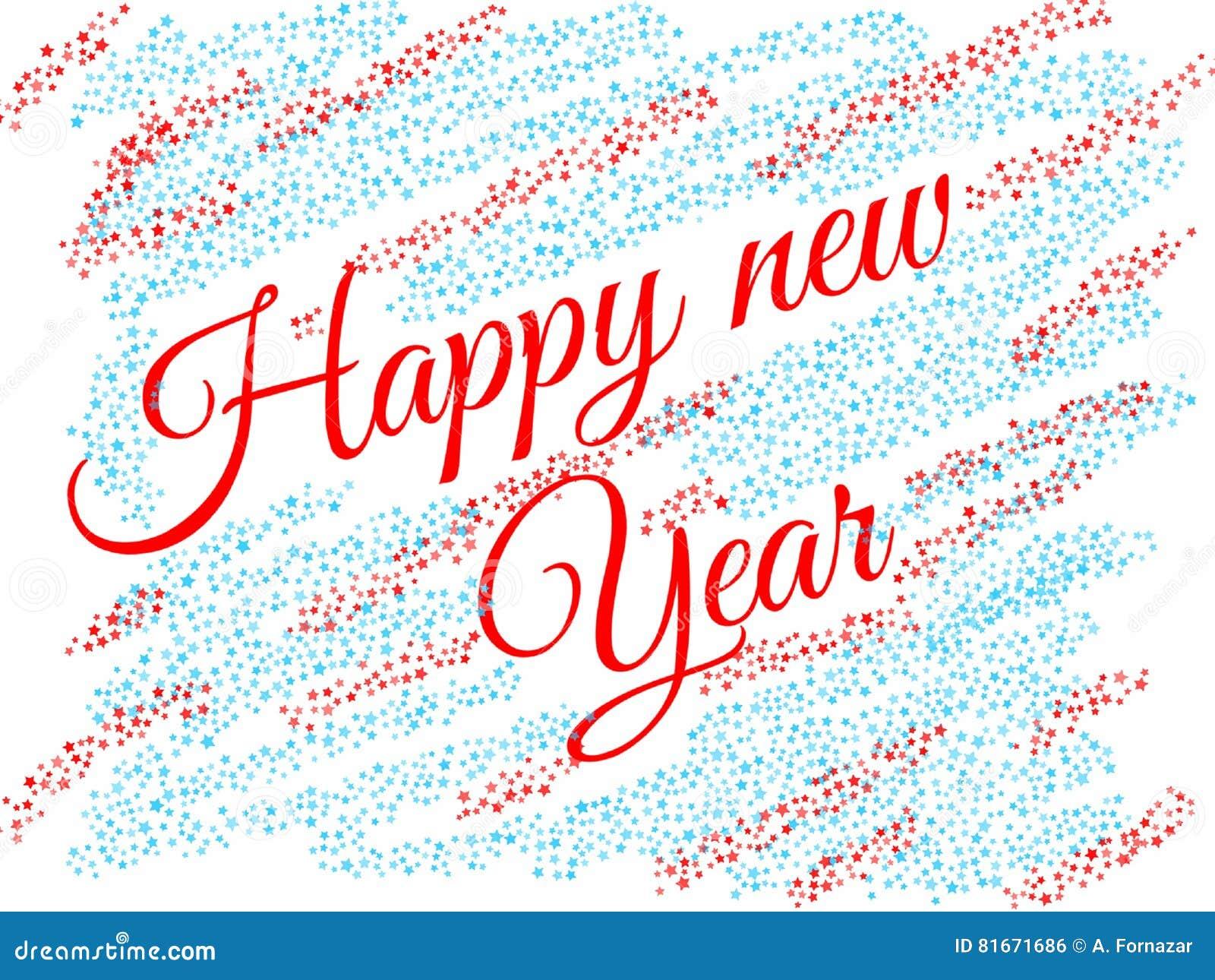 Neues Jahr ` s Glückwunschkarte