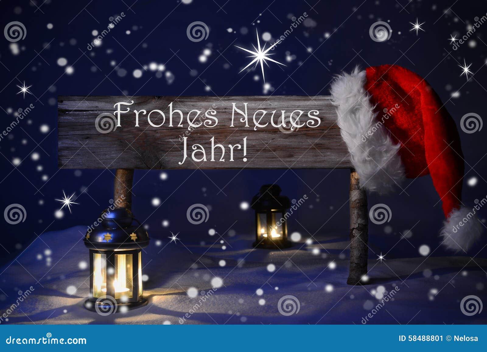 Neues Jahr Weihnachtszeichen-Kerzenlicht-Santa Hat Frohes Neues ...