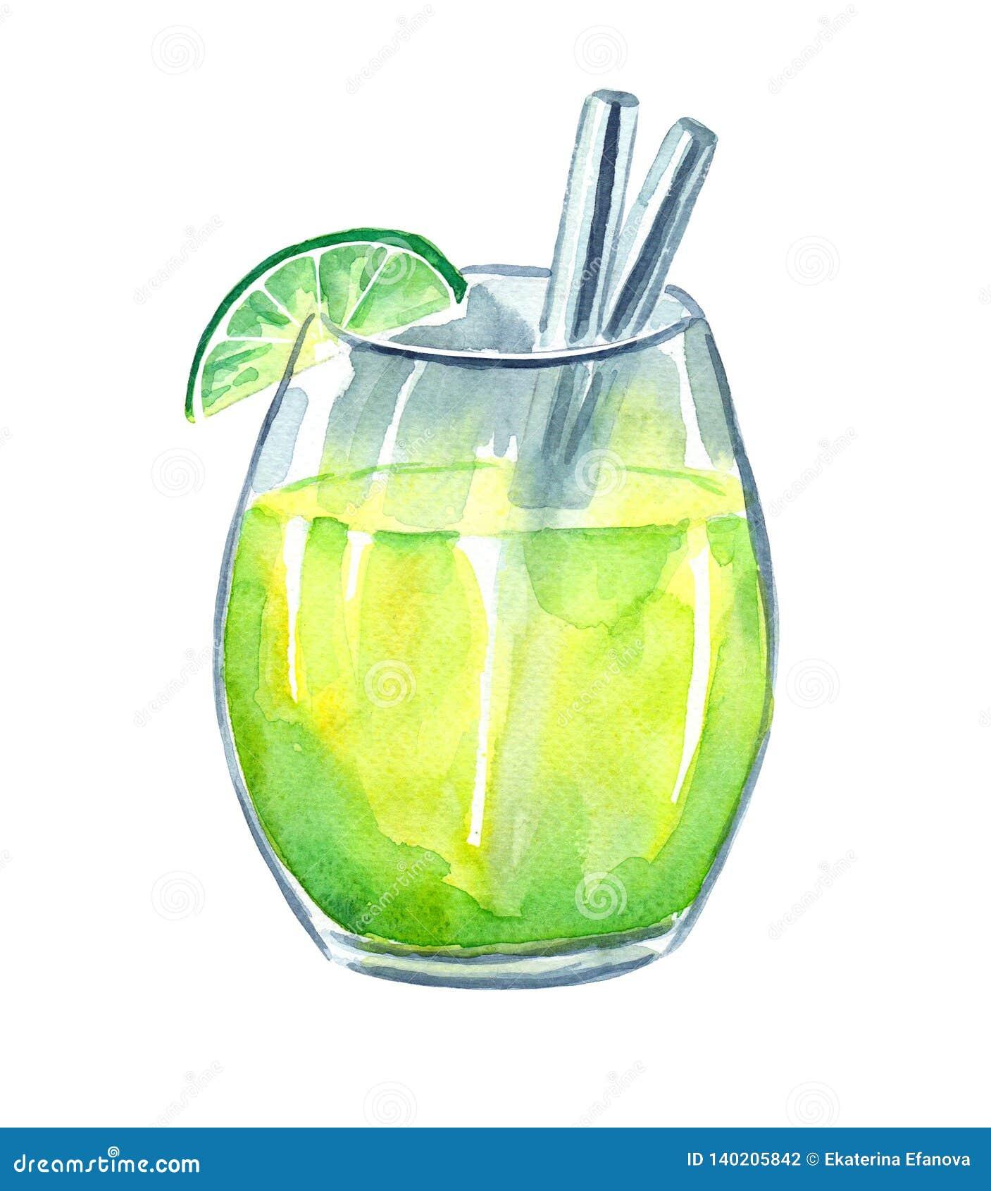 Neues Limonadengetränk mit Kalk