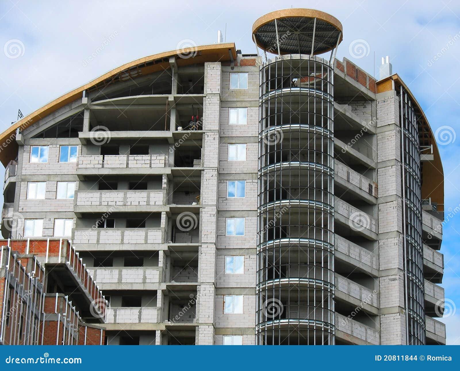 Neues Modernes Wohnungshaus Im Bau Stockfoto - Bild von innen ...
