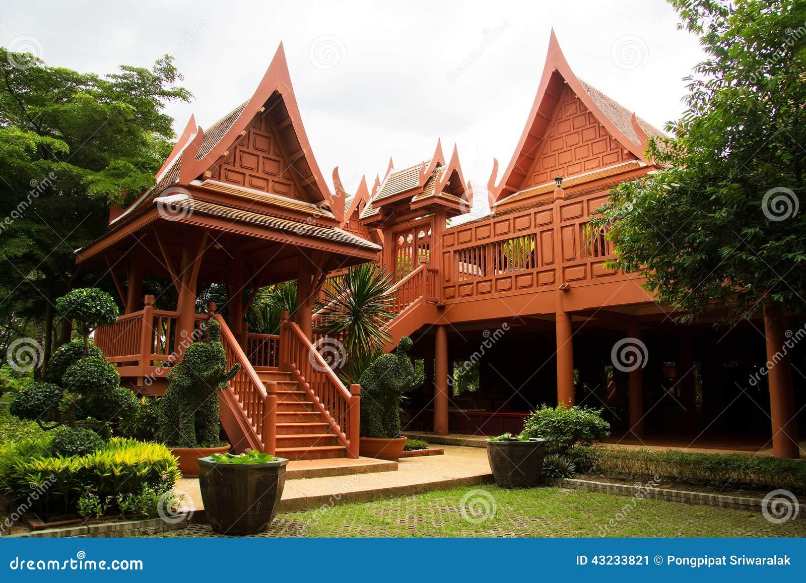 neues thail ndisches haus stockbild bild von kabinendach