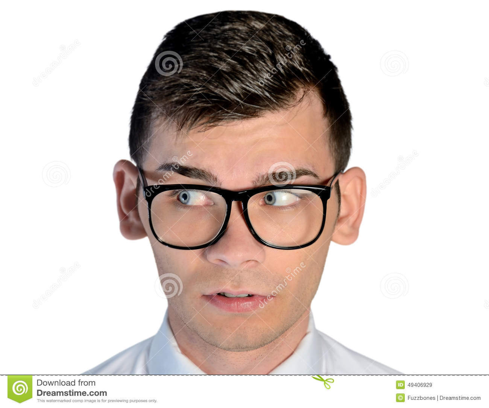 Download Neugieriges Gesicht Des Geschäftsmannes Stockbild - Bild von kerl, fachmann: 49406929