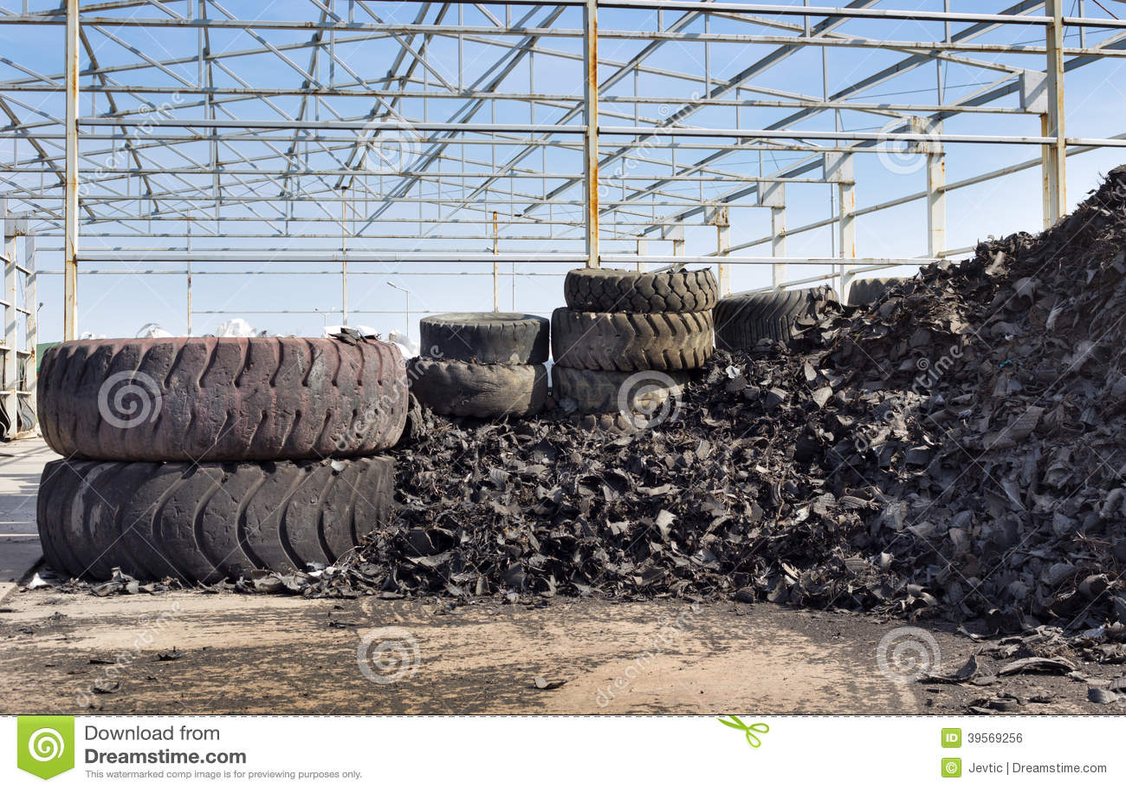 Neumático que recicla industria
