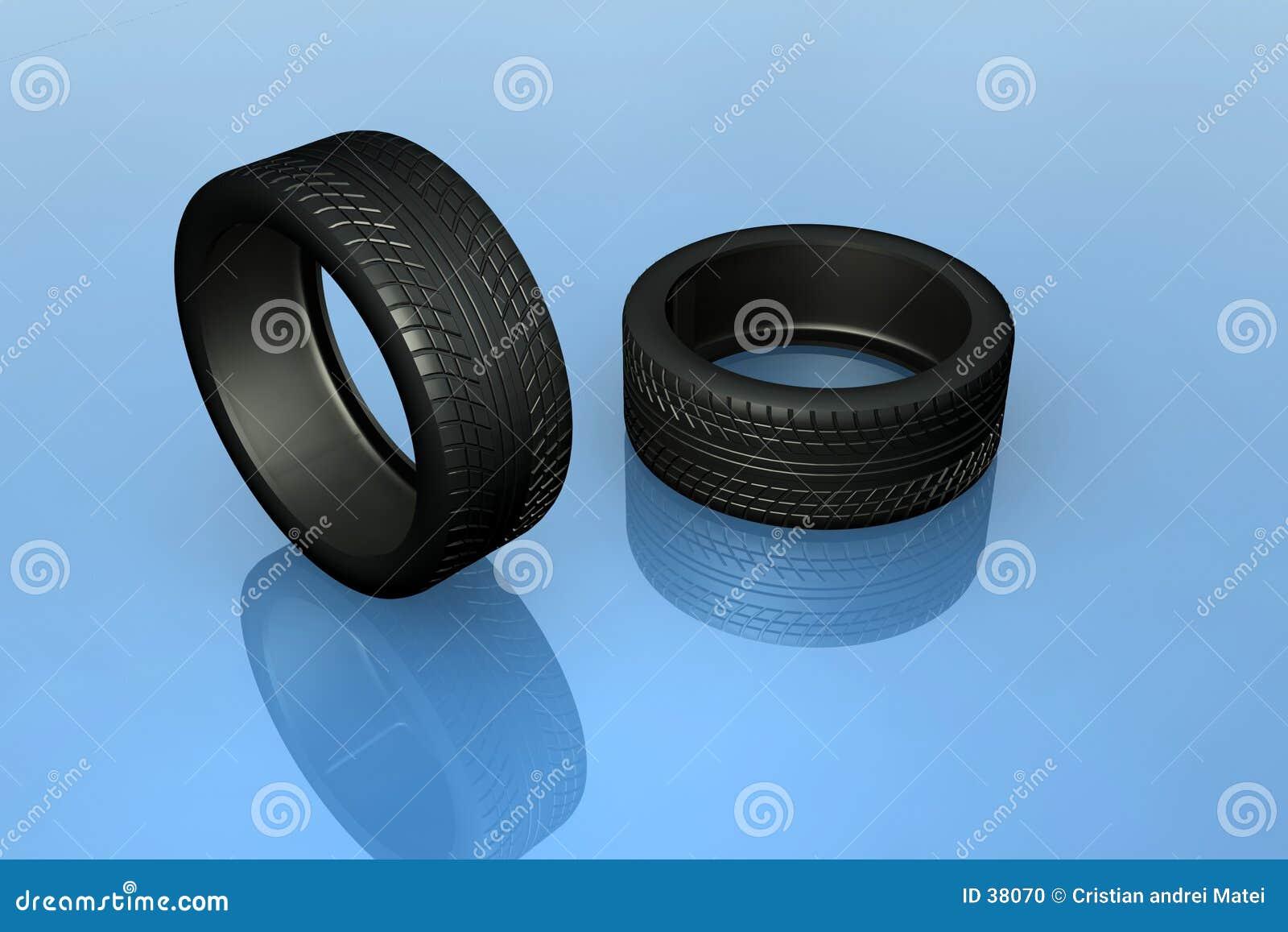 Download Neumáticos stock de ilustración. Ilustración de automóvil - 38070