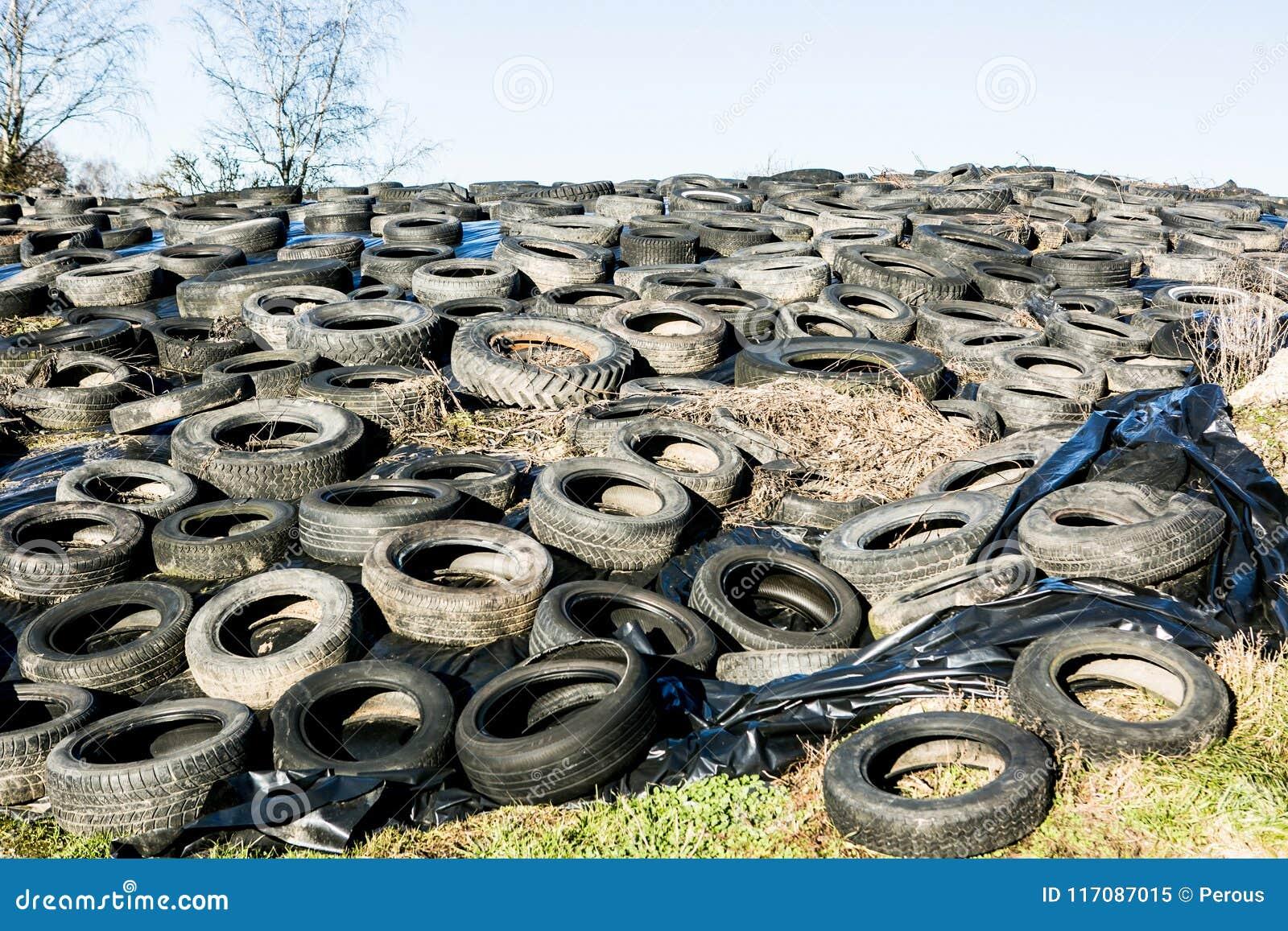 Neumáticos en descarga