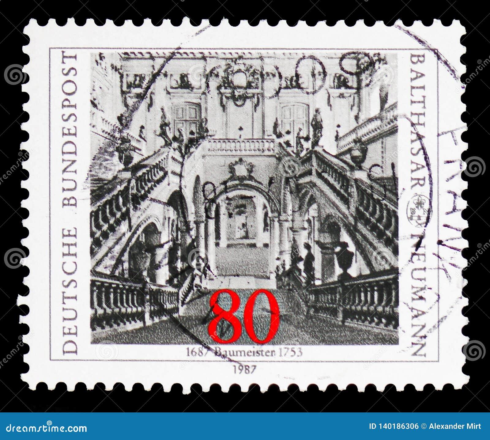 Neumann, Balthazar, 300. Geburts-Jahrestag serie, circa 1987