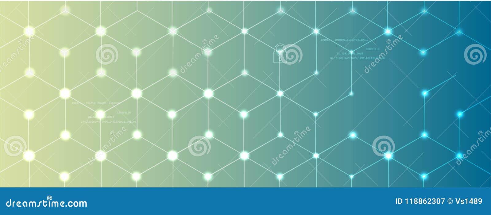 Neuraal netwerkconcept Verbonden cellen met verbindingen Geavanceerd technisch proces