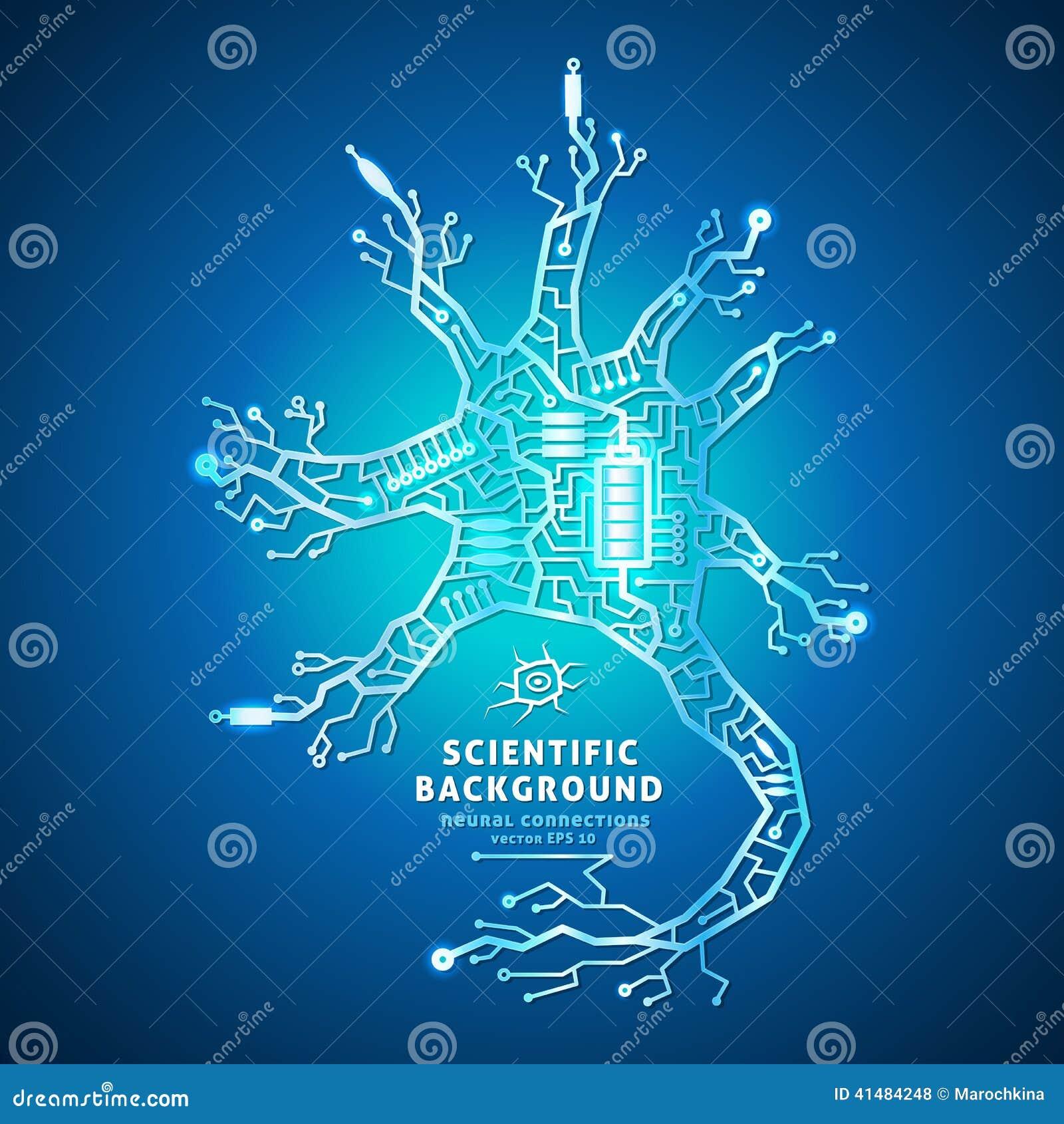 Neuron As An Electrical Circuit Stock Vector Illustration Of Design
