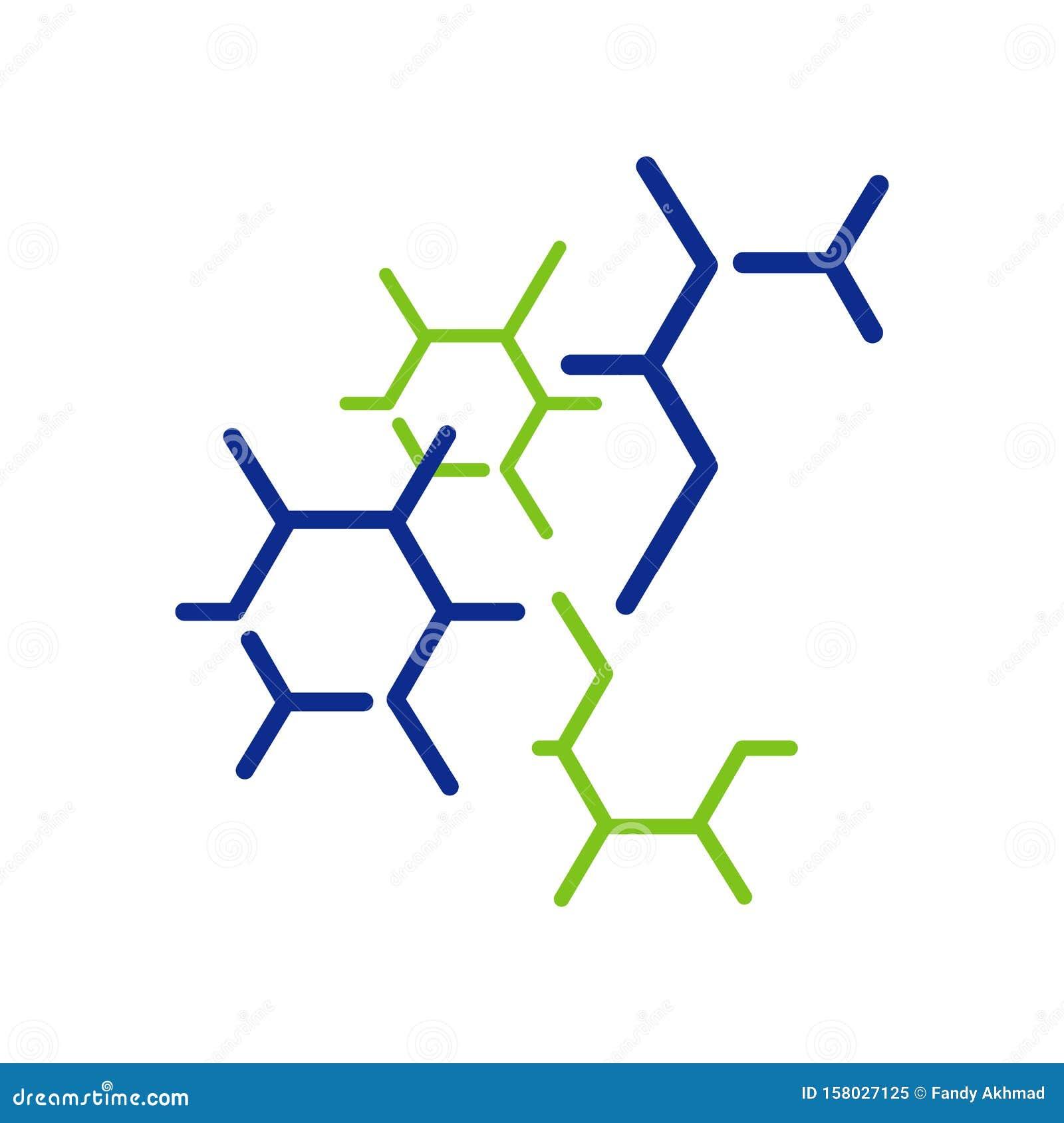 Neuron Cell Biotech Nanotechnology Molecule Logo Vector ...
