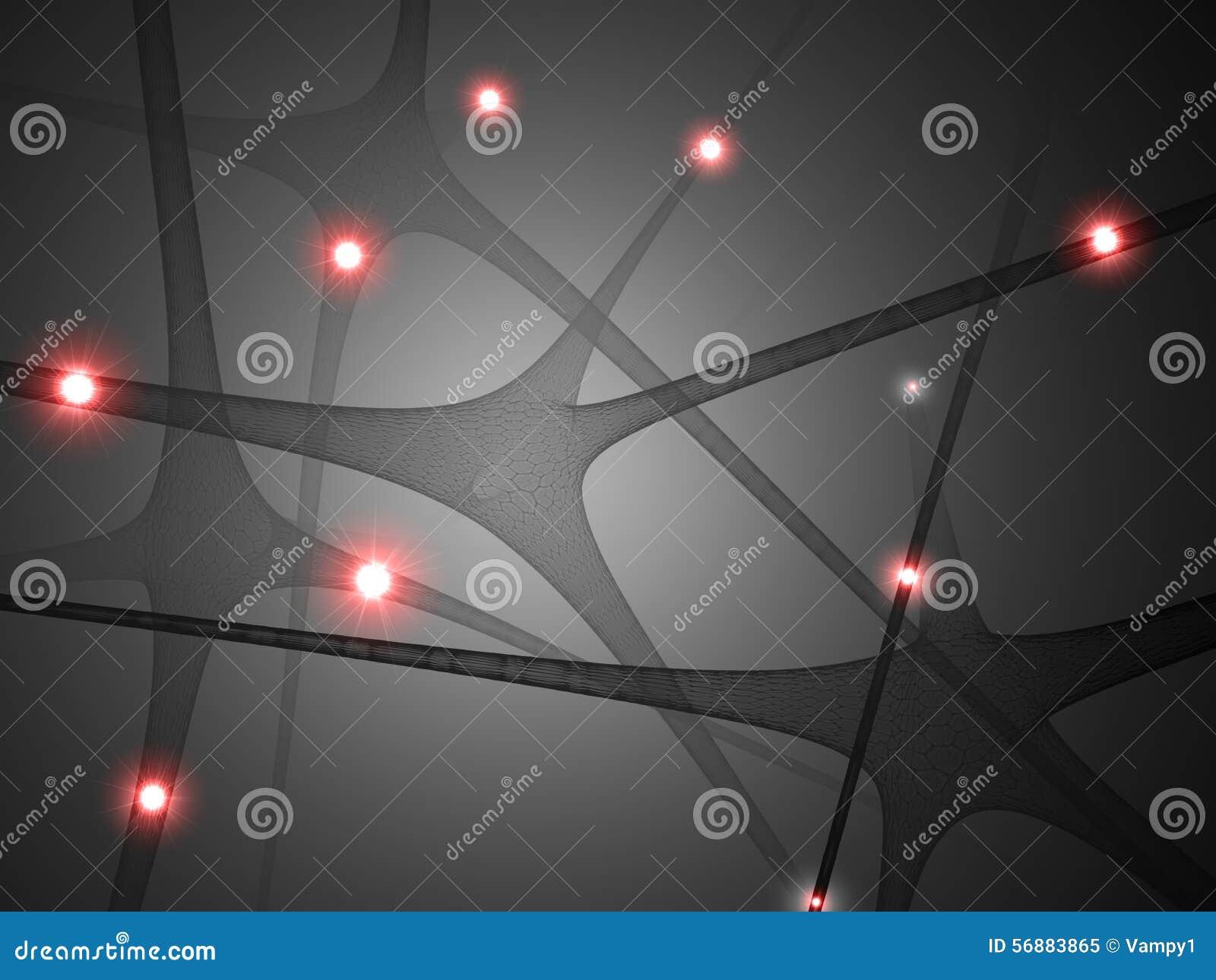Neuroni, comunicazione del cervello di sinapsi,