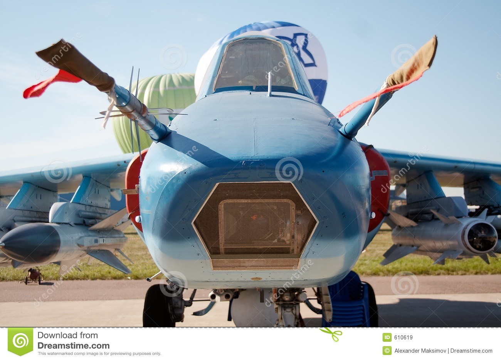 Neus van het vliegtuig
