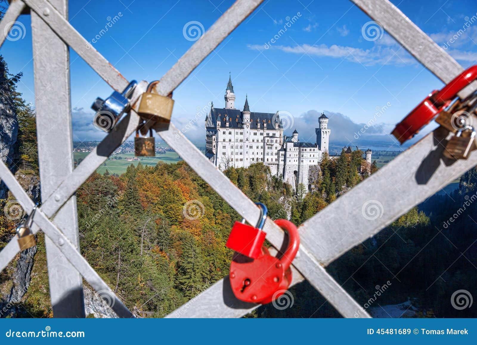 Neuschwanstein城堡在巴伐利亚,德国