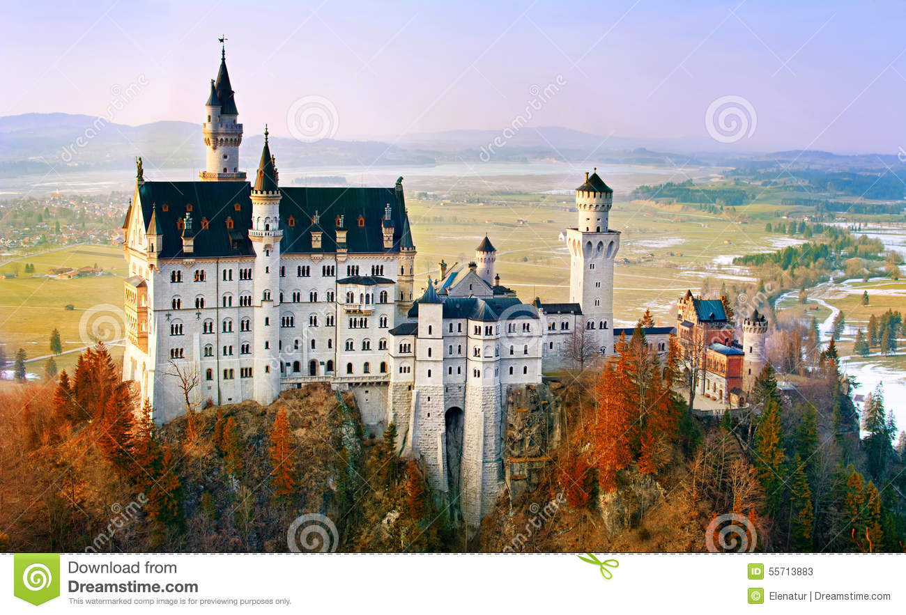 Download Neuschwanstein, Beautiful Castle Near Munich In Bavaria, Germany Stock Image - Image of landscape, fantasy: 55713883