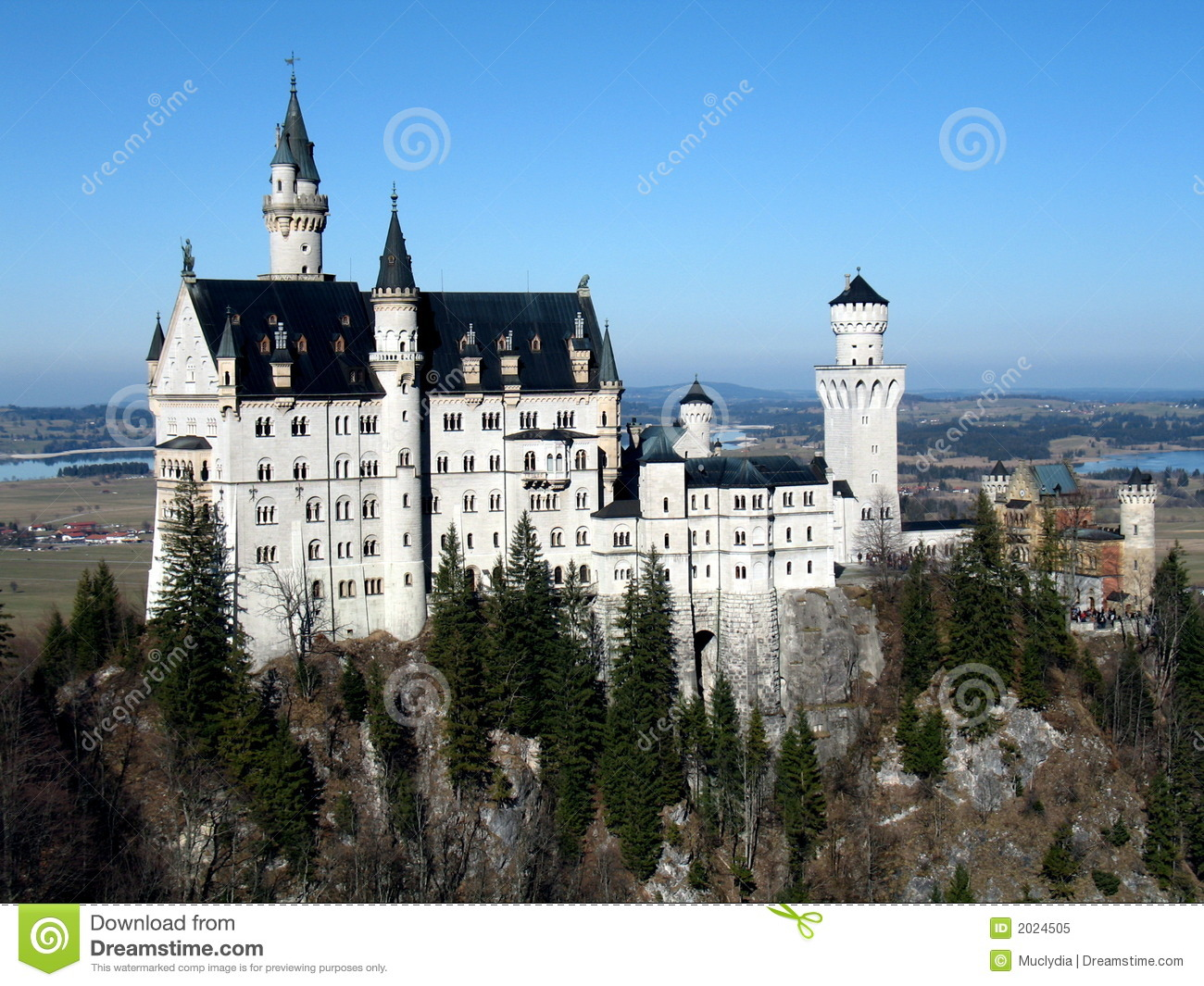 Neuschwanstein Castle Stock Image Image Of Crown Castle 2024505