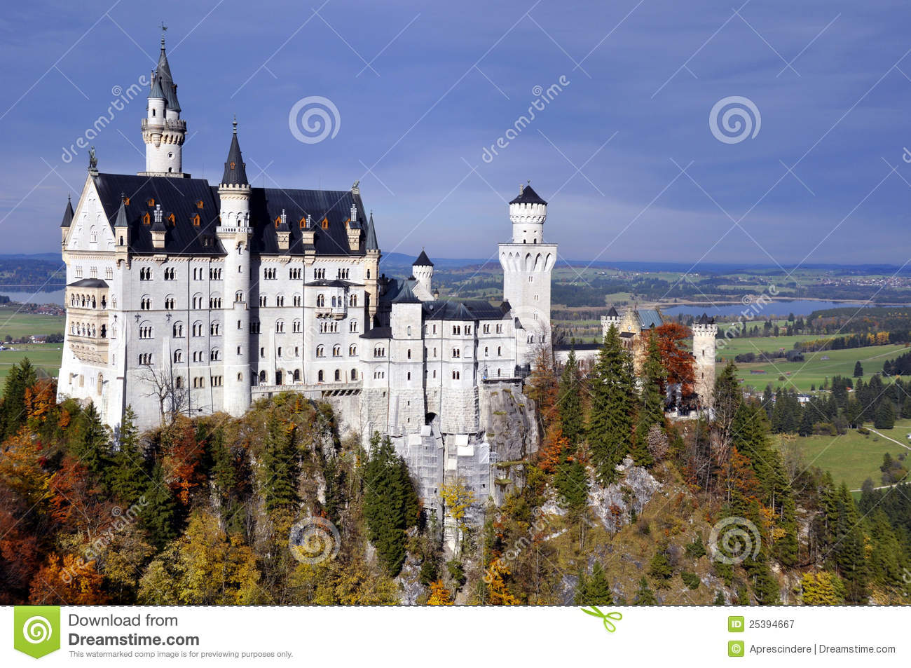 Download Neuschwanstein castle stock image. Image of castle, landmark - 25394667