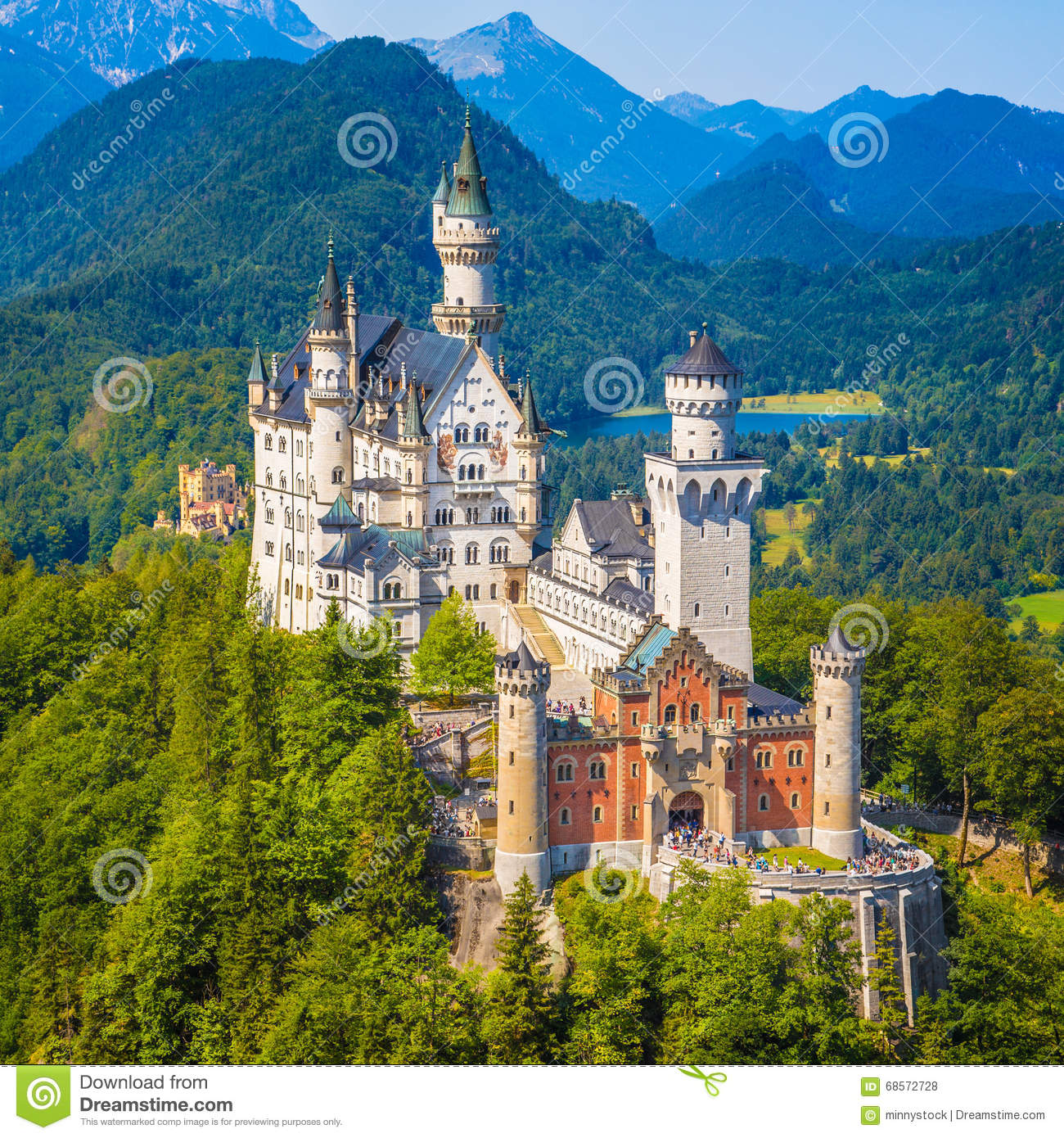 neuschwanstein castle bavaria germany stock photo image of cliff