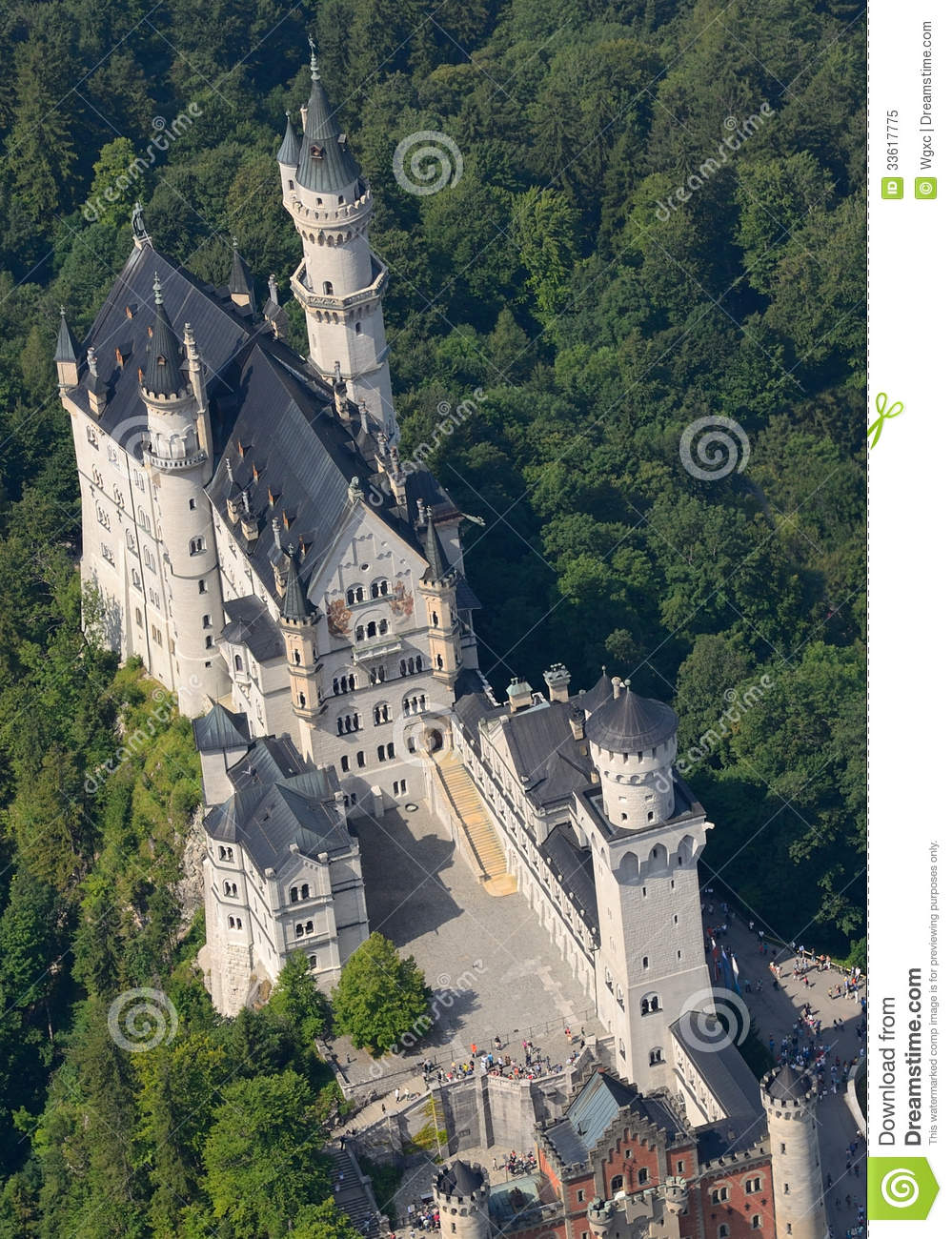 neuschwanstein castle stock image  image of tower  fall