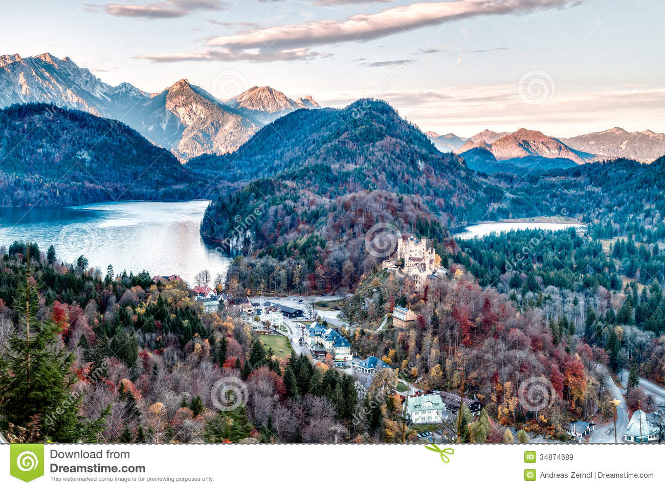 Neuschwanstein royalty free stock images image 34874689 for Nearby landscapers
