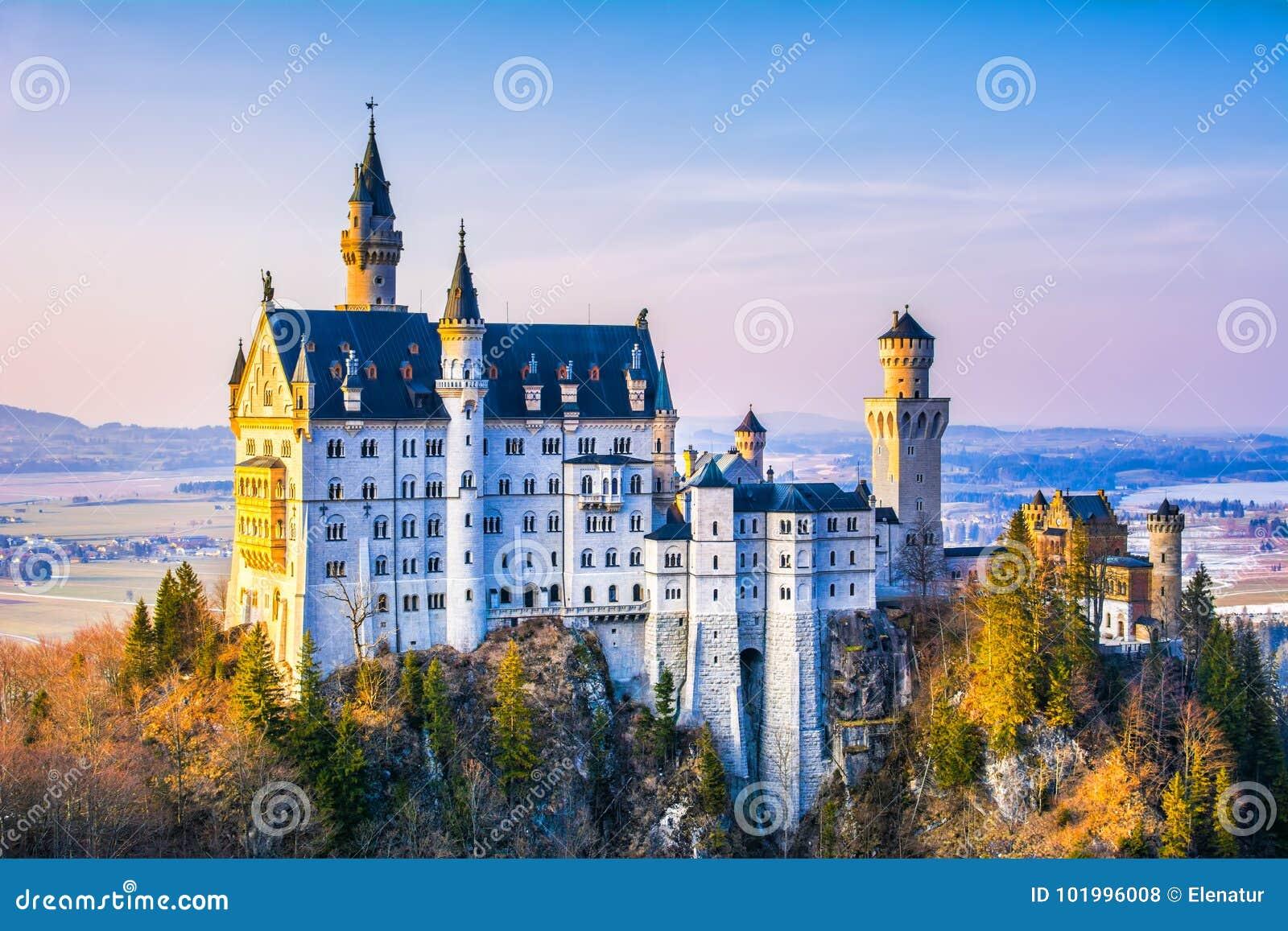Neuschwanstein Schönes Märchenschloss Nahe München In