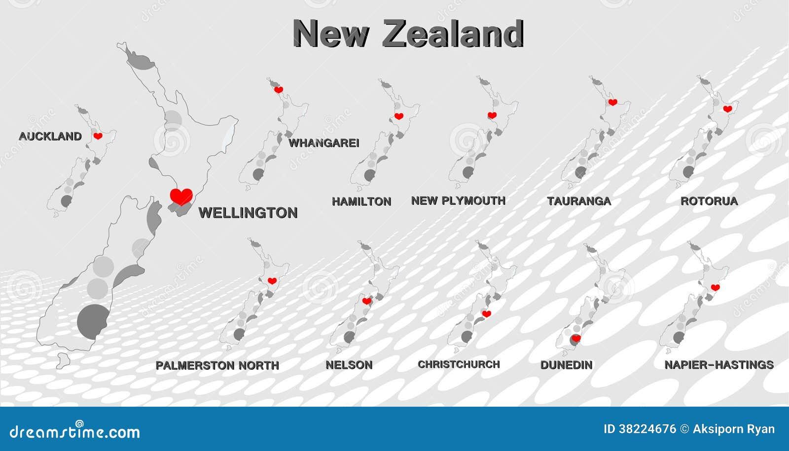 Neuseeland-Karte