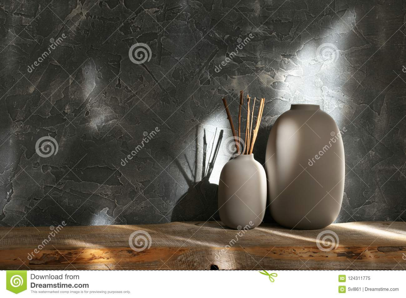 Neutral colored vases, home decor