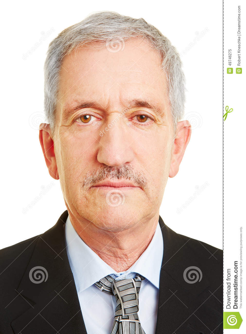 Neutral Face Of Old Business Man Stock Photo - Image: 49746275