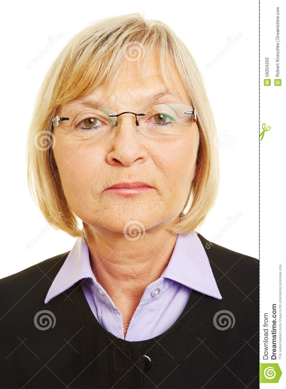 Neutral Face Of Old Woman Stock Photo - Image: 59204203