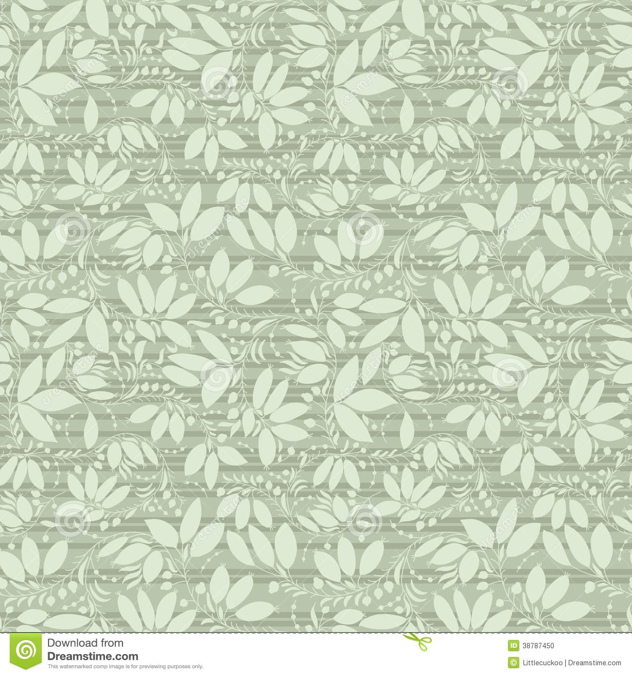 Neutral Floral Background Swirl And Curve Stock Illustration