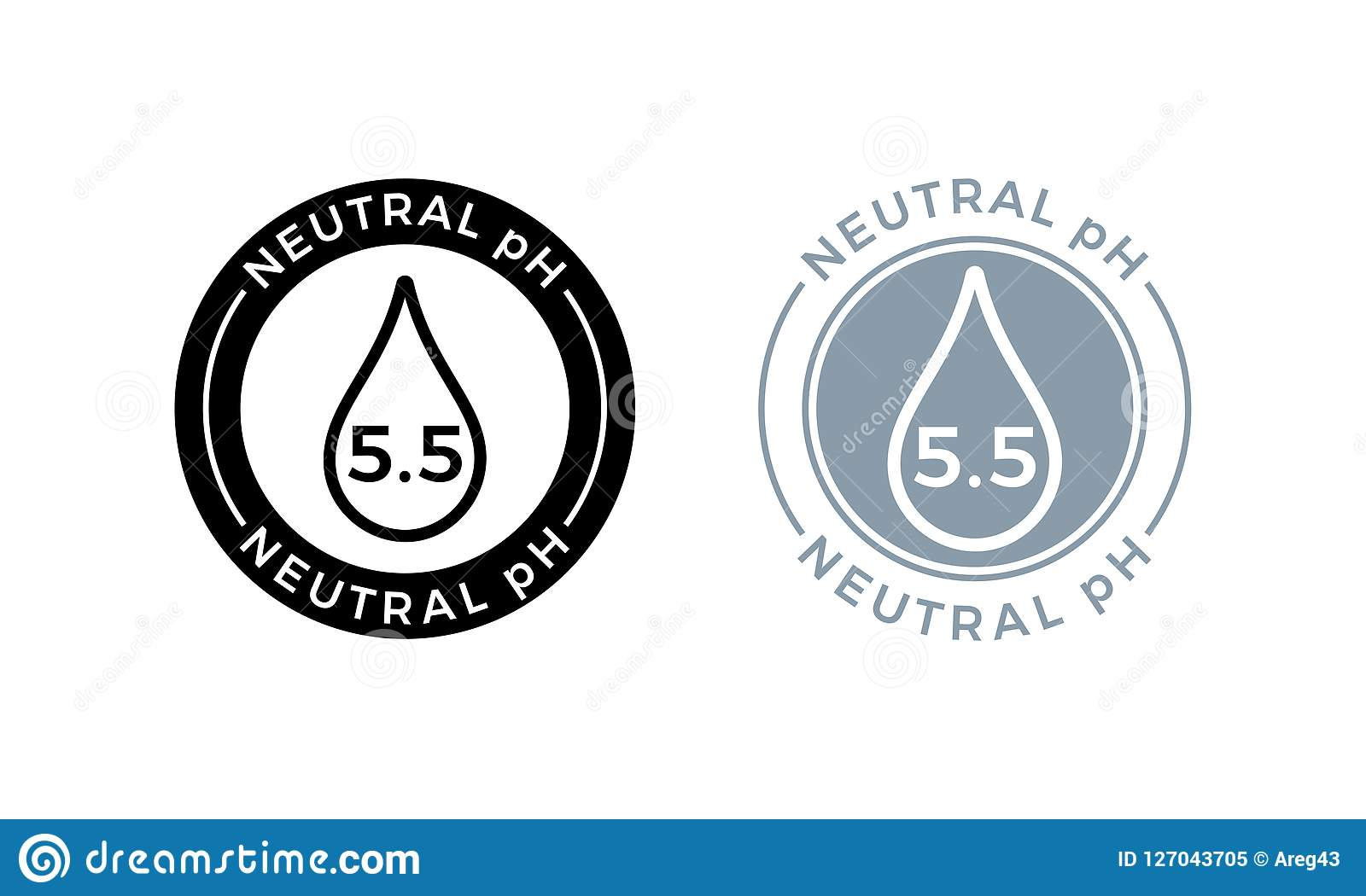 neutral ph balance logo icon for shampoo or cream