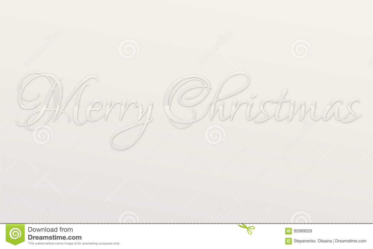 Neutral Silver Metal Merry Christmas Lettering Script Holiday