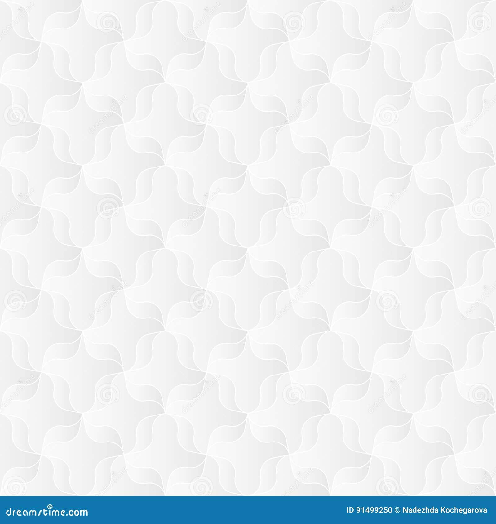 Neutral Trellis Wallpaper: Neutral White Ribbon Trellis Texture Vector Illustration