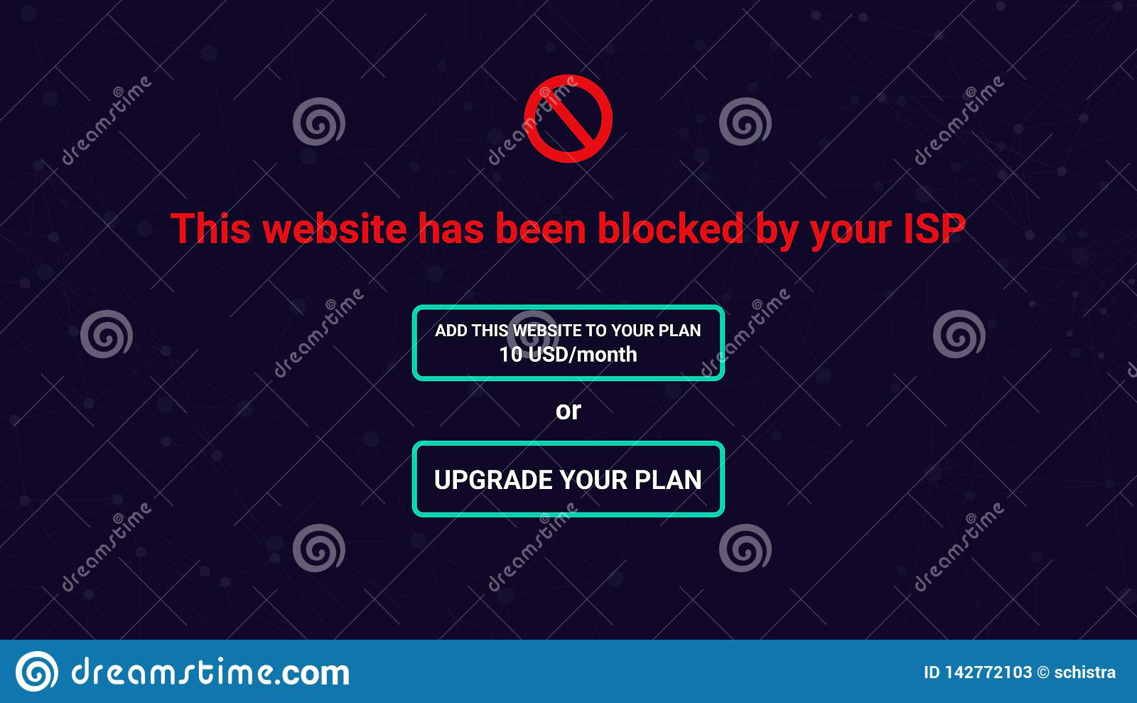 Neutralité nette, site bloqué par l ISP, demande d améliorer le plan