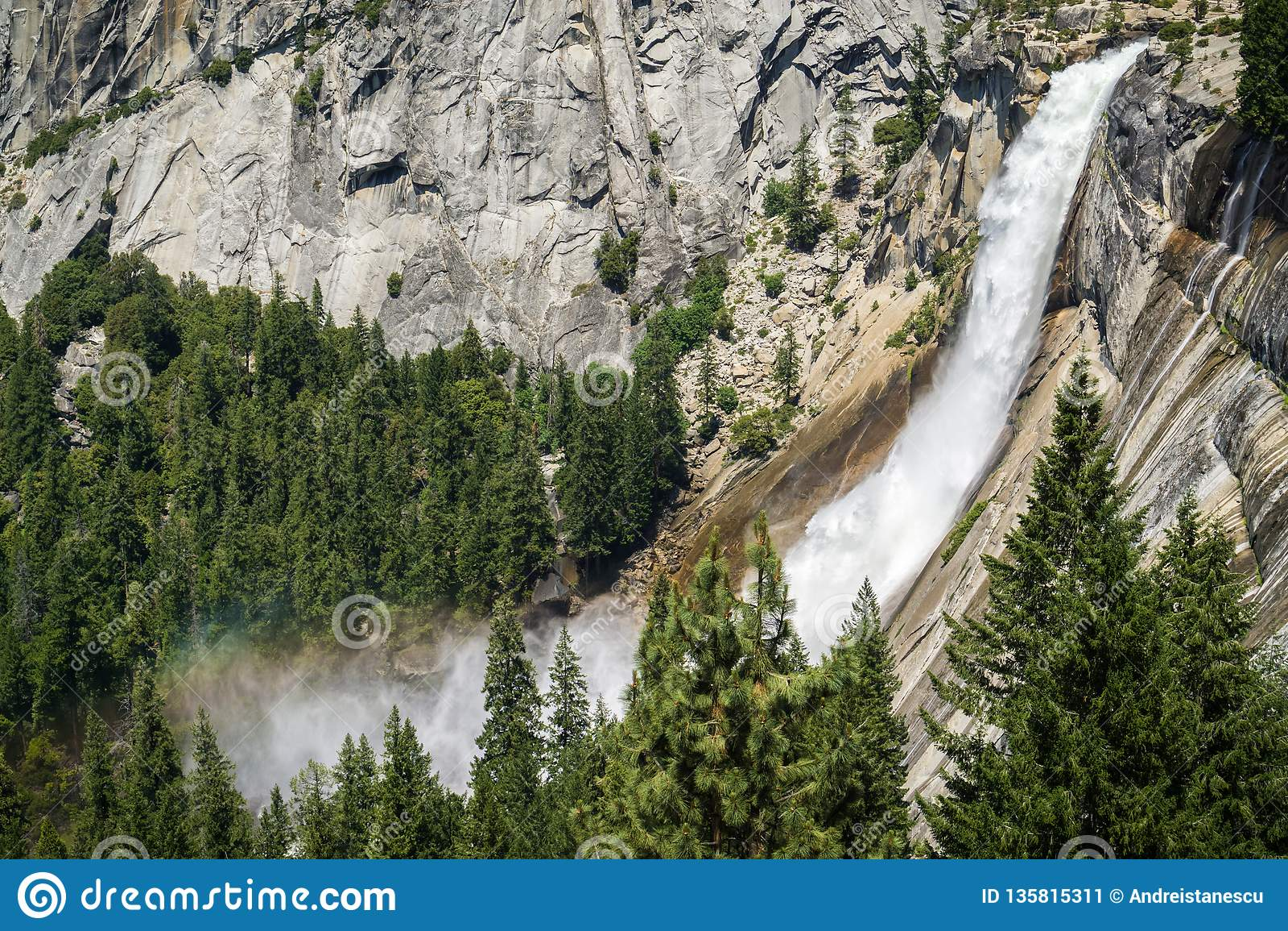 Nevada Fall Yosemite nationalpark, Kalifornien