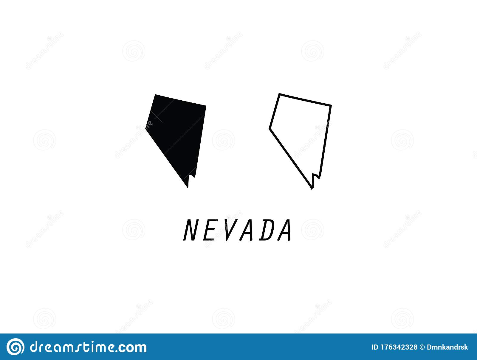 Nevada Map State Shape Usa America Borders Stock Illustration Illustration Of Background Connecticut 176342328