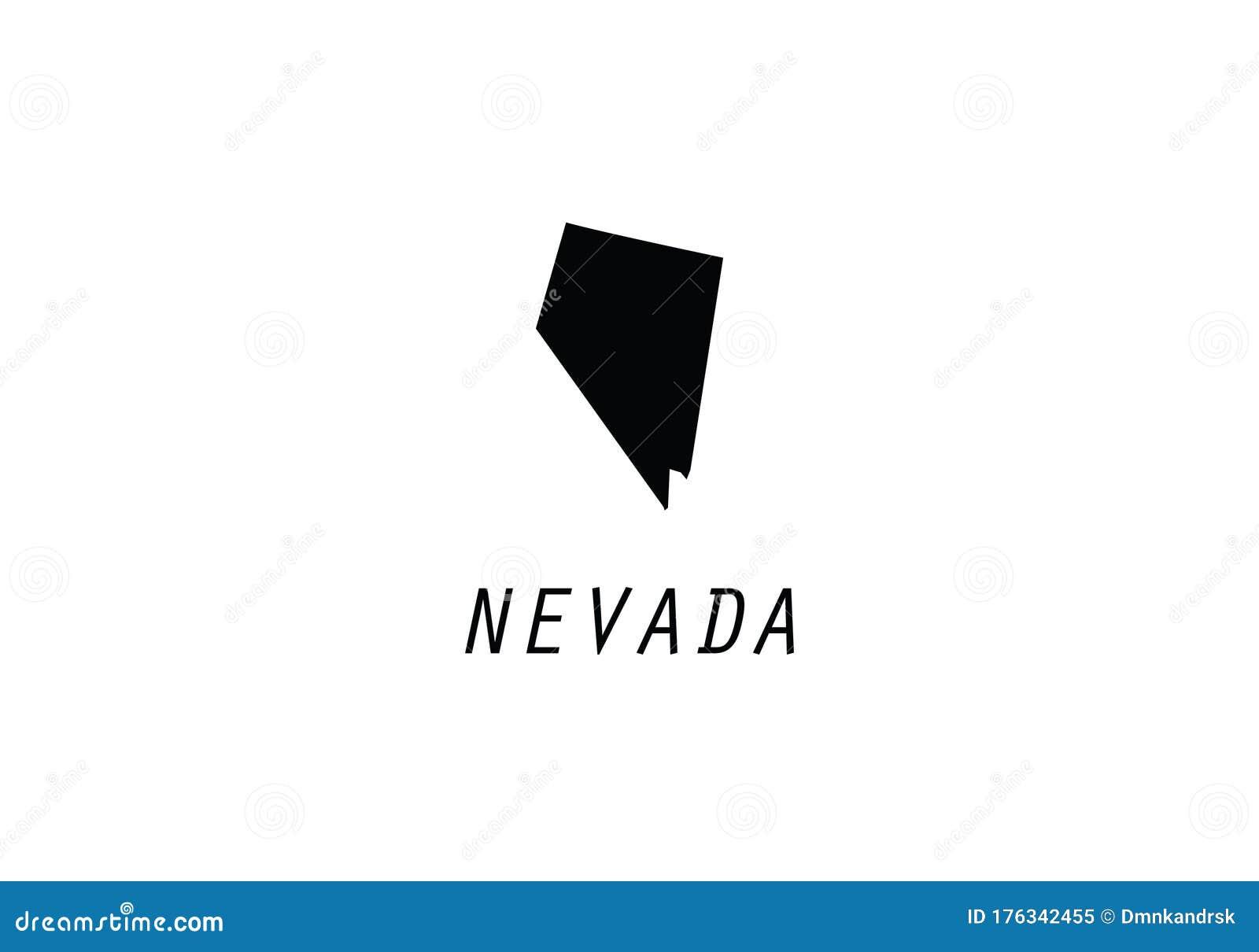Nevada Map State Shape Usa America Borders Stock Vector Illustration Of Chart Illustration 176342455