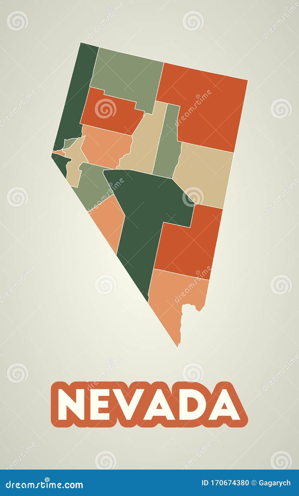 Nevada Poster In Retro Style Stock Vector Illustration Of Colorado Destination 170674380