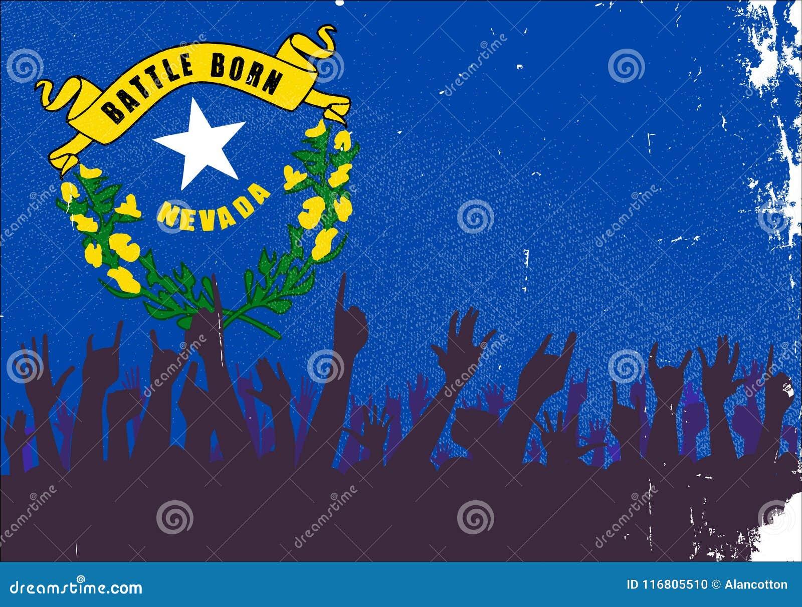 Nevada State Flag con reazione del pubblico
