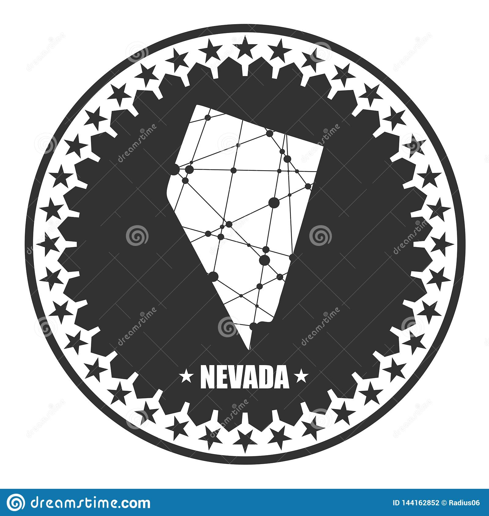 Nevada State Map Stock Vector Illustration Of Cartography 144162852