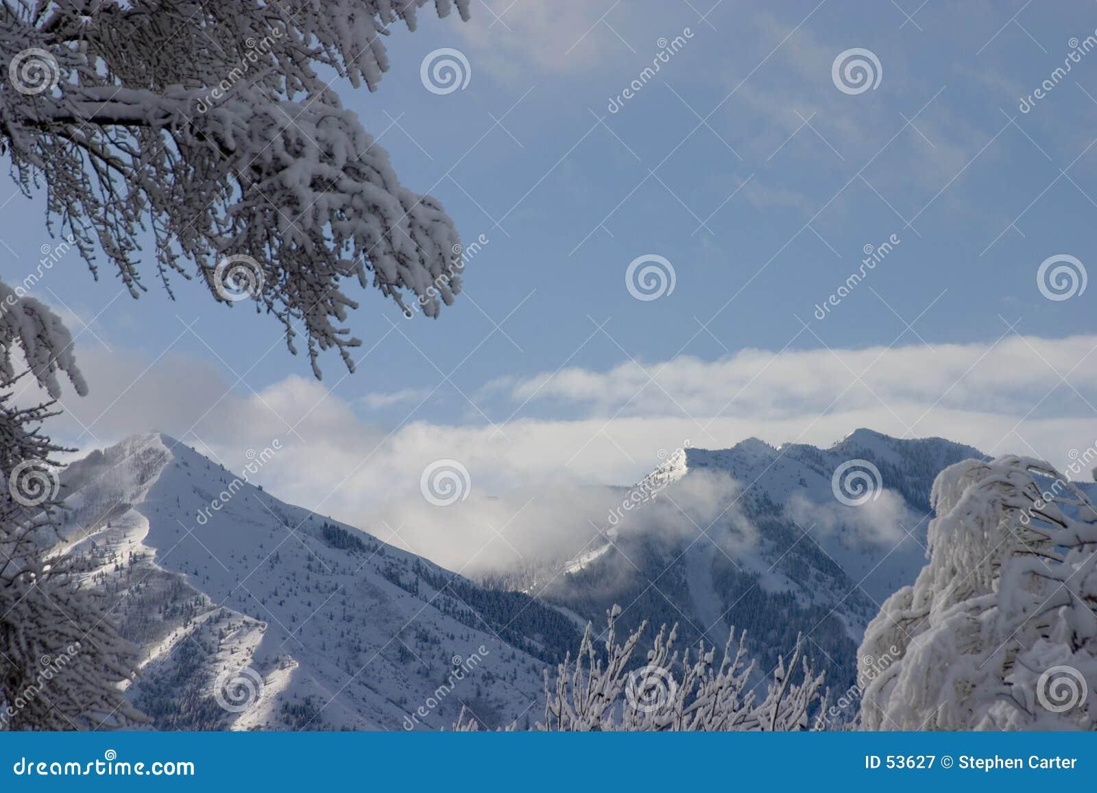 Nevadas pesadas en el pico de Flonette