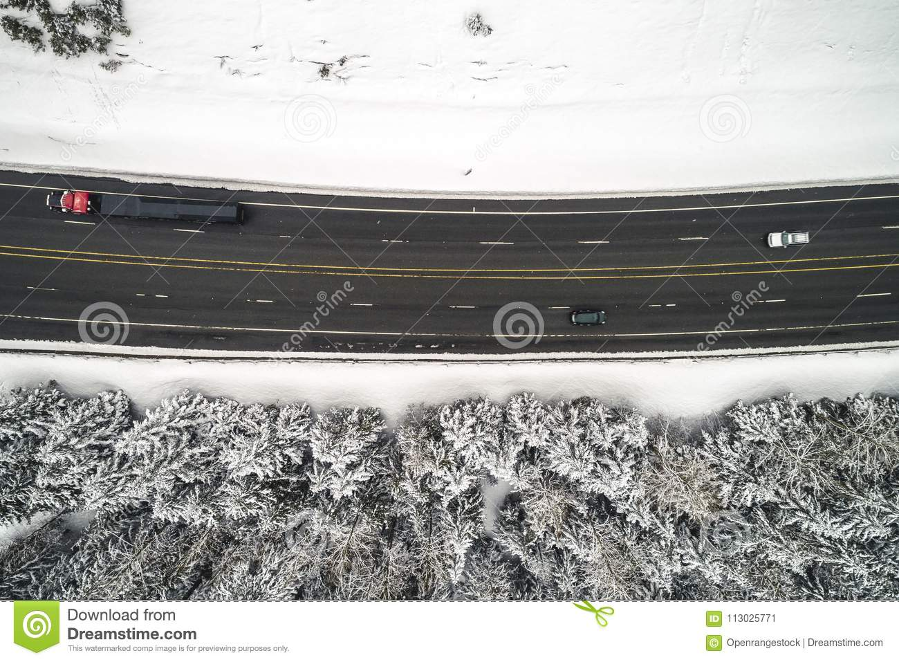 Nevado Forest Highway Transportation Top Angle