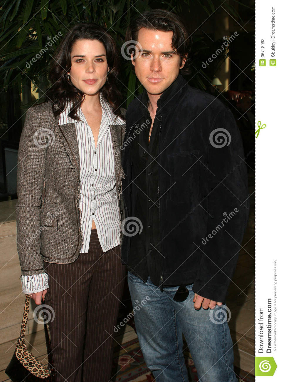 Neve Campbell Christian Campbell Redaktionell Arkivfoto ...
