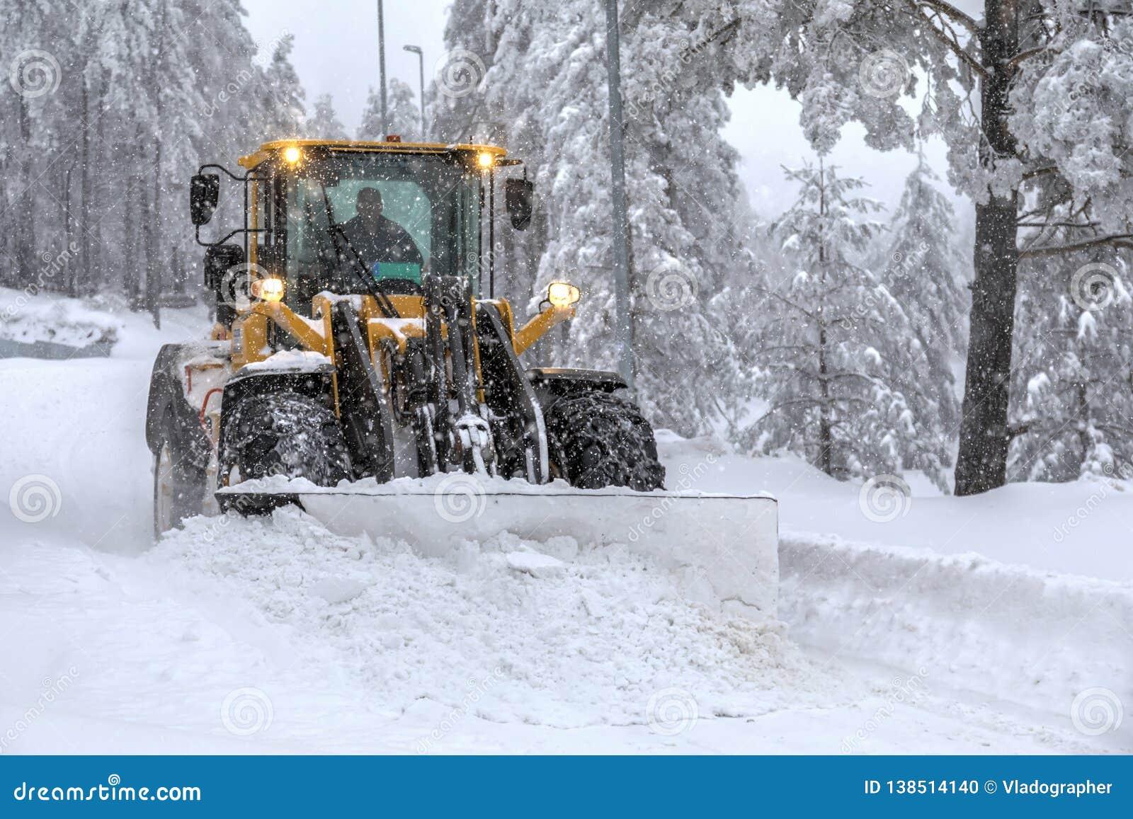 Neve de cancelamento da escavadora