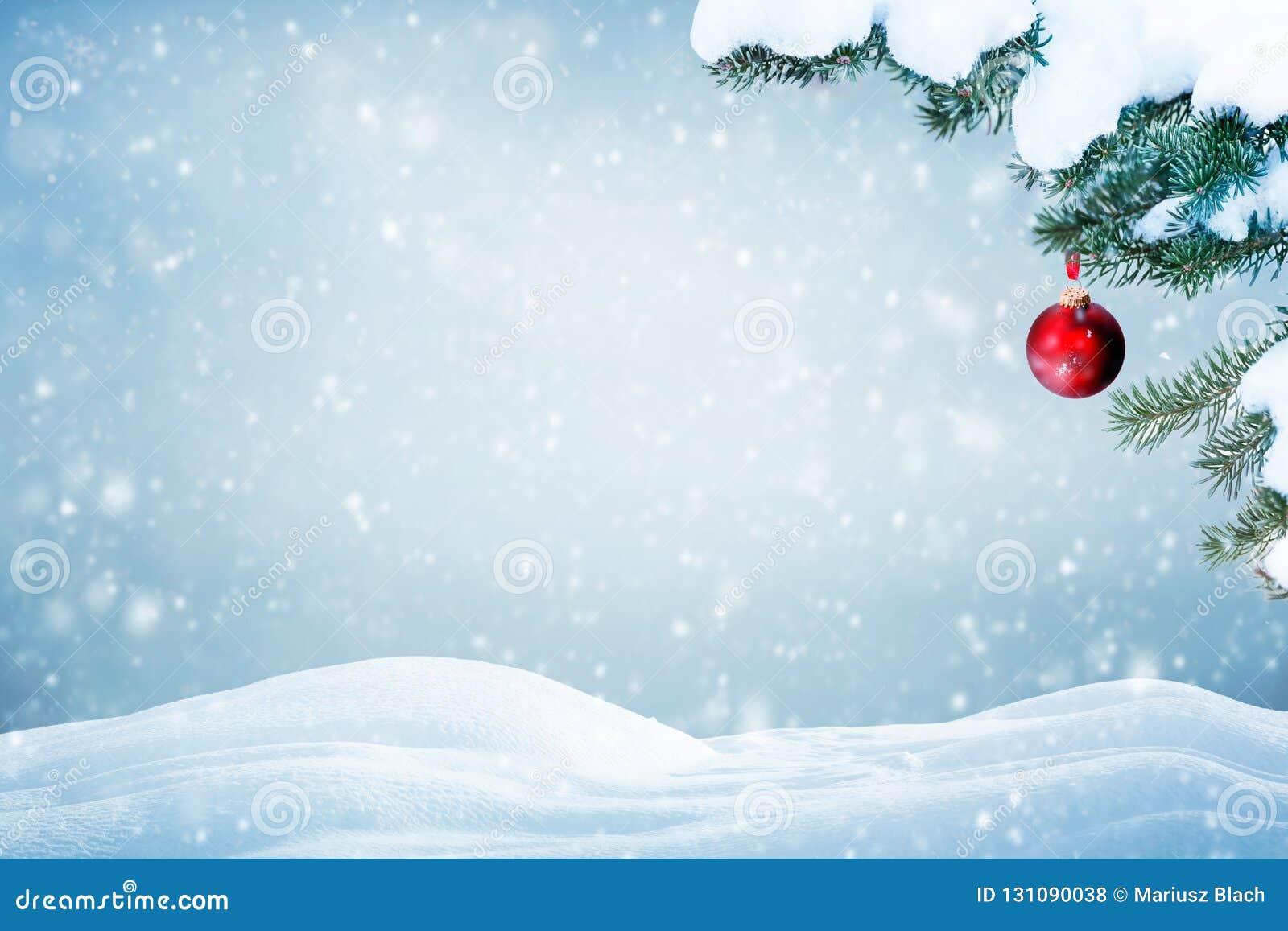 Neve de queda do fundo natural do Natal