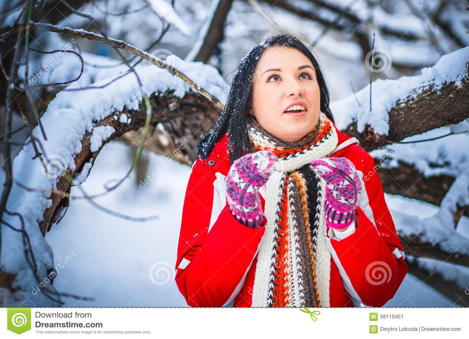 Neve, menina, retrato