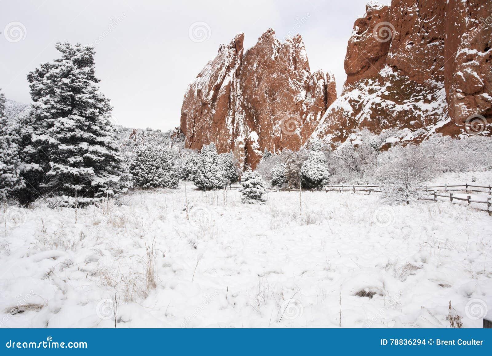 Neve no jardim dos deuses