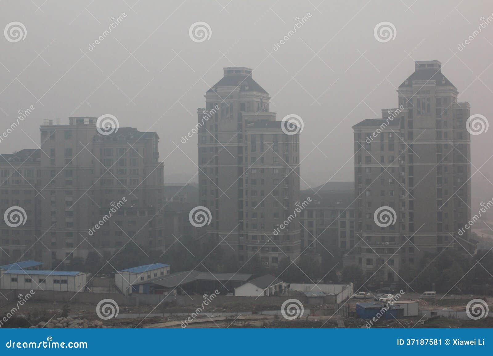 Nevel van de luchtvervuiling van China