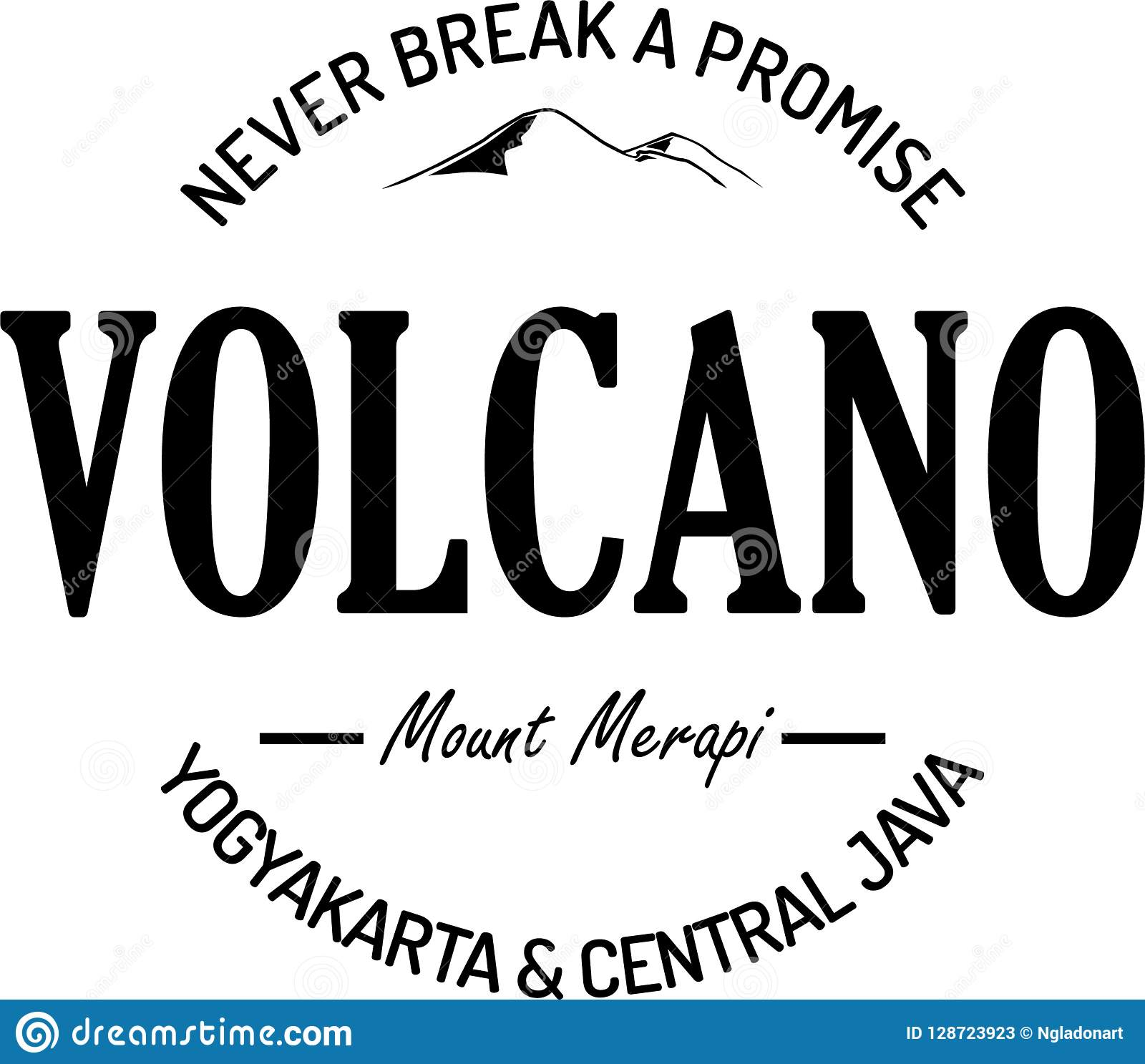 Never break a promise vintage logo